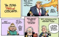 Clinton Trump Election Political Cartoon 11 Background