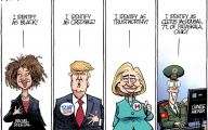 Clinton Trump Election Political Cartoon 15 Desktop Background