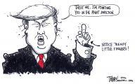 Clinton Trump Election Political Cartoon 18 Desktop Wallpaper