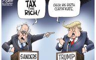 Clinton Trump Election Political Cartoon 19 Desktop Wallpaper