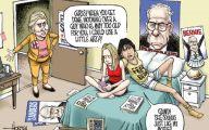 Clinton Trump Election Political Cartoon 20 High Resolution Wallpaper