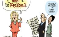 Clinton Trump Election Political Cartoon 21 Widescreen Wallpaper