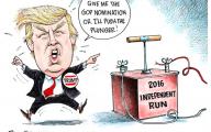 Clinton Trump Election Political Cartoon 23 Background Wallpaper