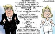 Clinton Trump Election Political Cartoon 25 Hd Wallpaper