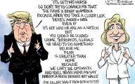 Clinton Trump Election Political Cartoon 25 Hd Wallpaper