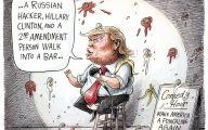 Clinton Trump Election Political Cartoon 28 Cool Hd Wallpaper