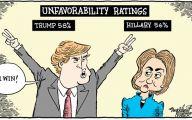 Clinton Trump Election Political Cartoon 36 Desktop Background
