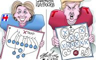 Clinton Trump Election Political Cartoon 37 Background Wallpaper