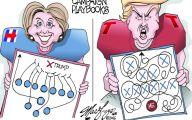 Clinton Trump Election Political Cartoon 37 Background Wallpaper