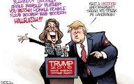 Clinton Trump Election Political Cartoon 4 Background