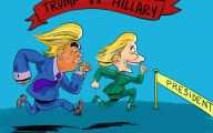 Clinton Trump Election Political Cartoon 40 Cool Hd Wallpaper
