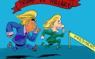 Clinton Trump Election Political Cartoon 40 Cool Hd Wallpaper