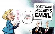 Clinton Trump Election Political Cartoon 41 High Resolution Wallpaper