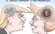 Clinton Trump Election Political Cartoon 9 Free Wallpaper