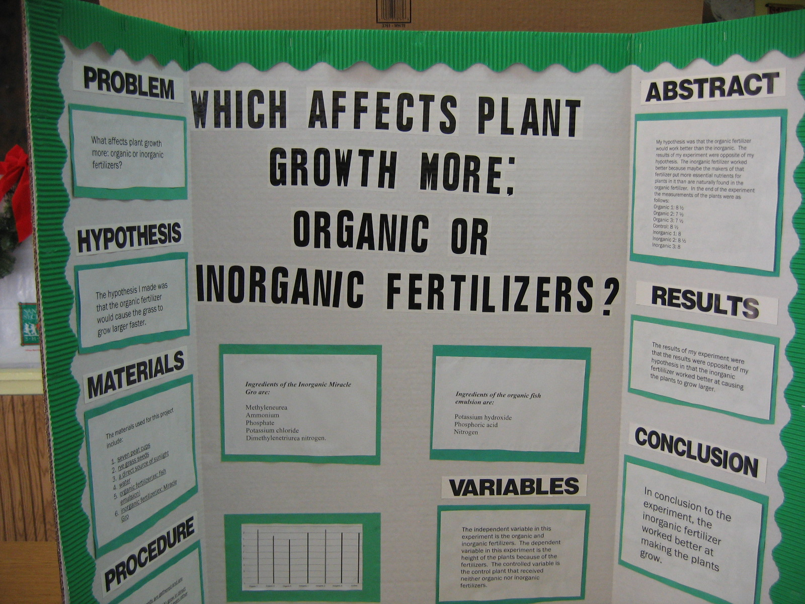 Science Fair Projects! | Green Thumb Farms